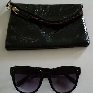 The Limited Black Clutch Bag